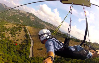 Take an extreme zip-line ride in the outskirts of Rome